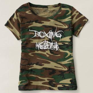 ボクシングのヘレナの女性の3Dロゴのワイシャツ(カムフラージュ) Tシャツ