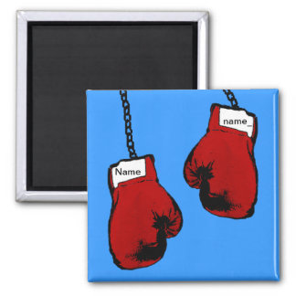 ボクシンググラブ-名前をカスタムする マグネット