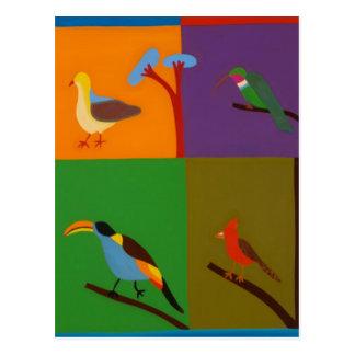 ボゴタ2008年の谷を訪問する鳥 ポストカード