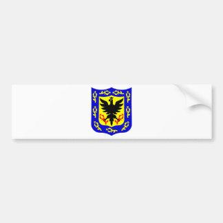 ボゴタ、コロンビアの紋章付き外衣 バンパーステッカー