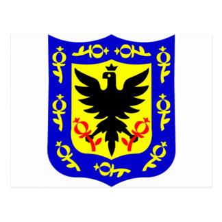 ボゴタ、コロンビアの紋章付き外衣 ポストカード