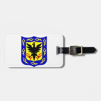 ボゴタ、コロンビアの紋章付き外衣 ラゲッジタグ