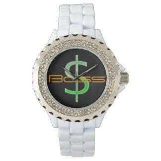 ボスのお金の記号のラインストーンの腕時計 腕時計