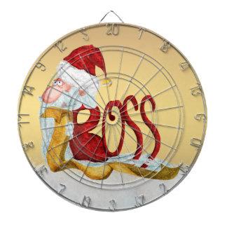 ボスのためのおもしろいなサンタのクリスマスのダート盤 ダーツボード