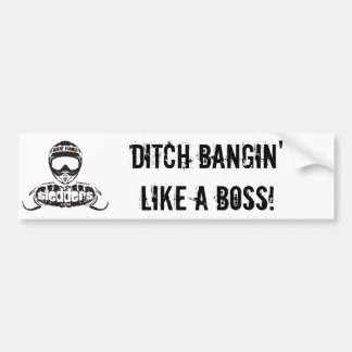 """""""ボスのようなBanginに""""のSledders.comのバンパー溝を堀って下さい バンパーステッカー"""