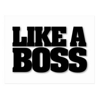 ボスのように、ボスのためのデザイン! ポストカード