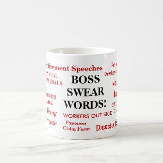 ボスのギフト-最もおかしく最も失礼なボスのマグ-不敬な言葉を コーヒーマグカップ