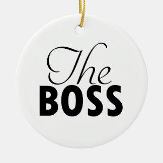ボスのデザイン セラミックオーナメント