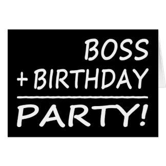 ボスの誕生日: ボス + 誕生日=パーティー カード