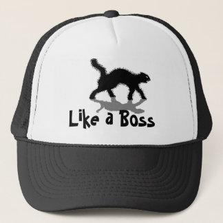 ボスの黒猫のおもしろいな帽子のように キャップ