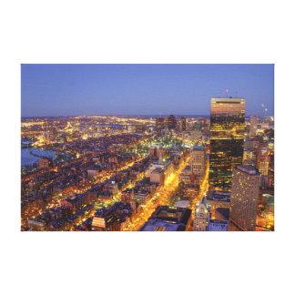ボストンおよびハンコック都心のタワー キャンバスプリント