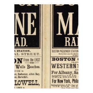 ボストンおよびメインの鉄道 ポストカード