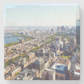 ボストンの空中写真 ストーンコースター