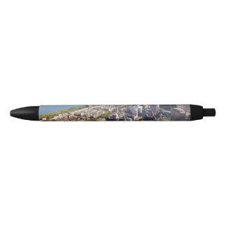 ボストンの空中写真 黒ボールペン