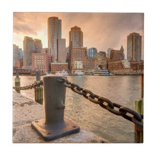 ボストンの財政地区のスカイライン タイル