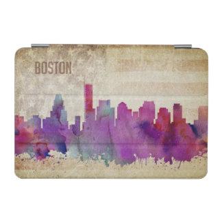 ボストンのMA |の水彩画都市スカイライン iPad MINIカバー