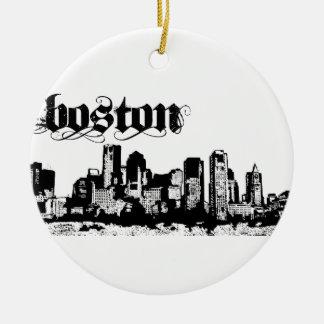 ボストンはあなたの都市のために置きました セラミックオーナメント