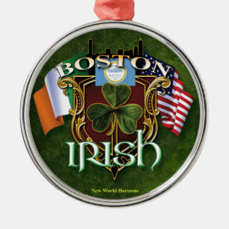 ボストンアイルランド語 メタルオーナメント