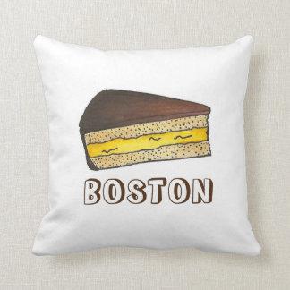 ボストンクリームパイの切れの食糧デザートの枕 クッション