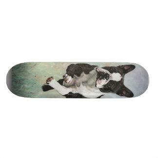 ボストンテリアのスケートボード 18.7CM ミニスケートボードデッキ