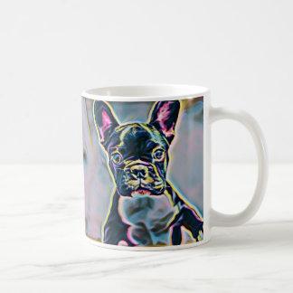 ボストンテリアのネオンのマグ コーヒーマグカップ