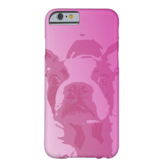 ボストンテリアのピンクのiPhone 6の場合 Barely There iPhone 6 ケース
