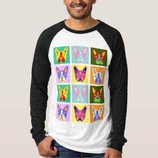 ボストンテリアのポップアート Tシャツ
