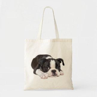 ボストンテリアの子犬のトートバック トートバッグ