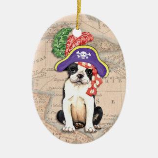 ボストンテリアの海賊 セラミックオーナメント
