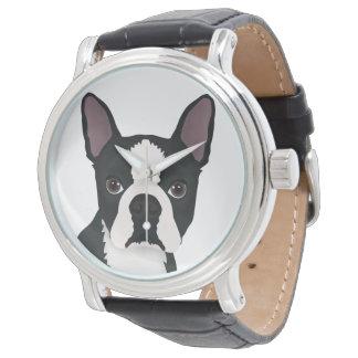 ボストンテリアの漫画 腕時計