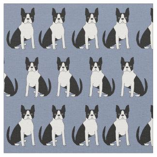 ボストンテリアの生地-かわいいボストンテリア犬 ファブリック