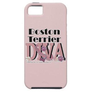 ボストンテリアの花型女性歌手 iPhone SE/5/5s ケース