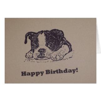 ボストンテリアの誕生日 グリーティングカード