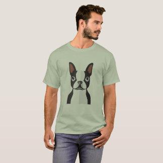 ボストンテリアのTシャツの人 Tシャツ