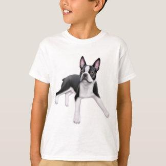 ボストンテリアはTシャツをからかいます Tシャツ