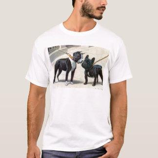 ボストンテリア及びフレンチ・ブルドッグ Tシャツ