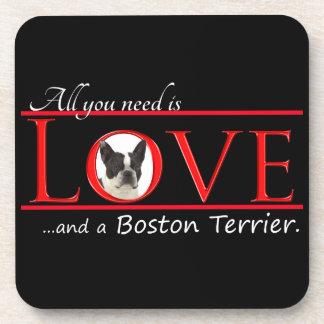 ボストンテリア愛コースター コースター