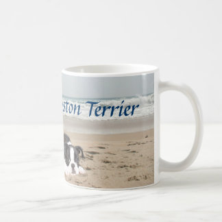 ボストンテリア愛マグのSandcastles コーヒーマグカップ
