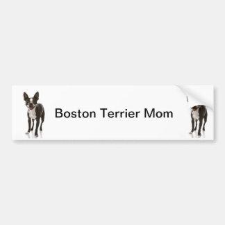 ボストンテリア犬のお母さんのバンパーステッカー バンパーステッカー
