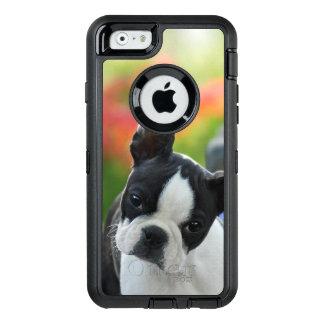 ボストンテリア犬のかわいい子犬- Phoneprotect オッターボックスディフェンダーiPhoneケース