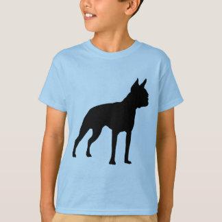 ボストンテリア犬のギフト(黒) Tシャツ