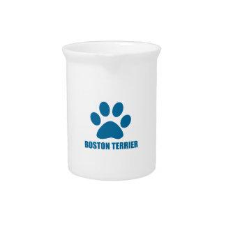 ボストンテリア犬のデザイン ピッチャー