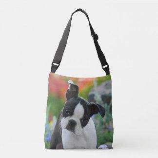 ボストンテリア犬のCrossbodyのかわいい子犬の写真 クロスボディバッグ