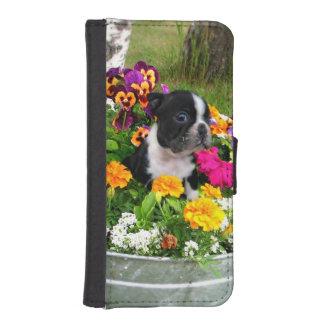ボストンテリア犬 iPhoneSE/5/5sウォレットケース