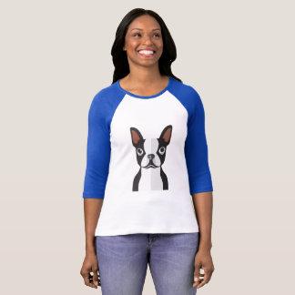 ボストンテリア3/4の長さのTシャツレディース Tシャツ