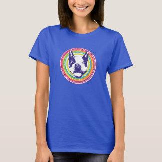 ボストンテリア-カラフルな円 Tシャツ