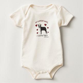 ボストンテリア-多く犬の品種! ベビーボディスーツ