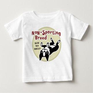 """ボストンテリア""""非スポーツのな品種"""" ベビーTシャツ"""