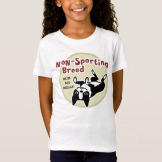 """ボストンテリア""""非スポーツのな品種"""" Tシャツ"""