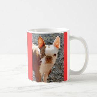 ボストンテリアw/Name コーヒーマグカップ